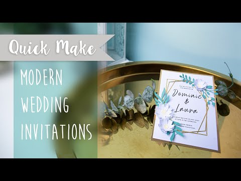 Modern Wedding Invitation  - Sizzix