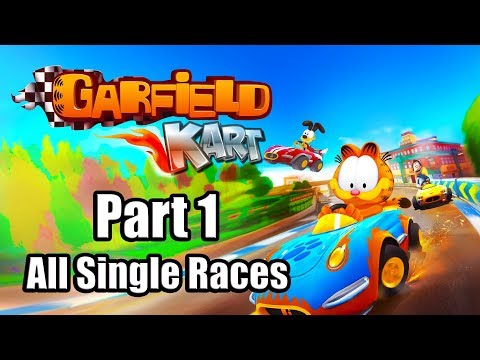 Gameplay de Garfield Kart Furious Racing