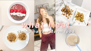Healthy College Freshman What I Eat In A Day | Dorm Food & Dining Halls