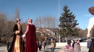 preview picture of video 'gegants de súria . festes de sant sebastià 20 gener 2013'