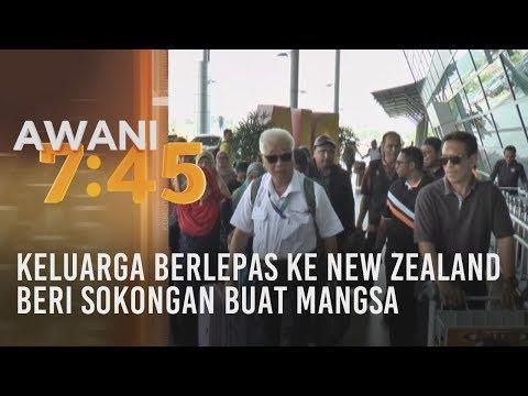 Keluarga berlepas ke New Zealand beri sokongan buat mangsa