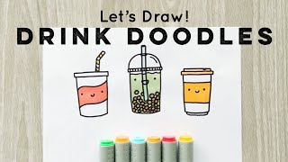 Lets Draw : Doodle Drinks! | Doodles By Sarah