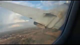 Пассажир самолёта снял его крушение,#The passenger of the aircraft took off his crash