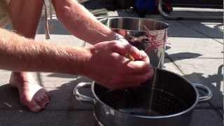 Holunderbeersaft selber machen - Holunderbeeren einkochen