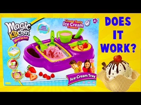 Magic Kidchen Mixin Up Fun Ice Cream Maker! I Make Chocolate Ice Cream!
