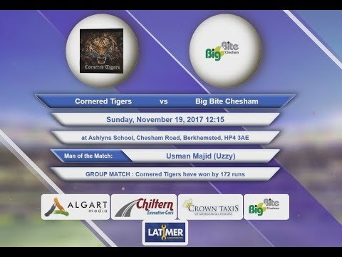 Video Cornered Tigers VS Big Bite Chesham - 19-Nov-2017