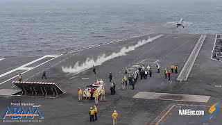 Launching Fighter Jets Off Aircraft Carriers