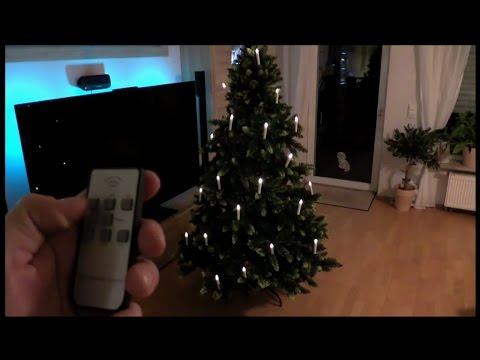 Kerzen LED Weihnachtsbaum 20er LED Kerzen ohne Kabel mit Batterien und Fernbedienung