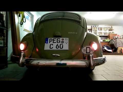 VW Käfer Einkammerrückleuchten mit Wink-Blink-Brems-Schaltung