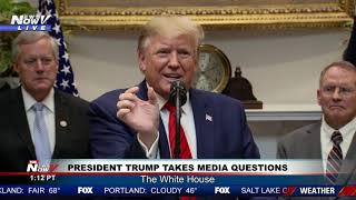 """""""DROPPING LIKE A ROCK"""" President Trump BASHES Joe Biden During Extensive Media Questioning"""