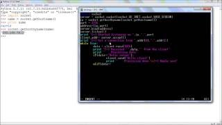 Python Networking : TCP socket tutorial  Client and Server mo...