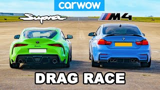 [carwow] Toyota Supra vs BMW M4: DRAG RACE!