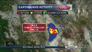 5.8 magnitude earthquake in Inyo County felt in Bakersfield on Wednesday