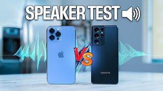 iPhone 13 Pro Max vs Galaxy S21 Ultra - Speaker Test