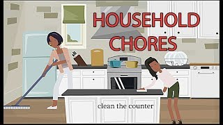 Talking About Household Chores In English - Short Dialogues