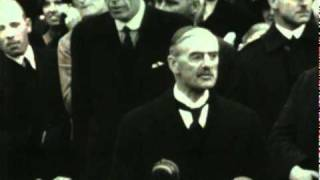 Neville Chamberlain Returns From Germany With The Munich Agreement
