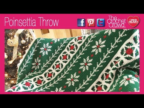 Red Heart Poinsettia Throw | Yarnspirations