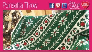 Crochet Poinsettia Throw