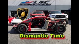 REBUILDING WRECKED 2012 LAMBORGHINI GALLARDO SUPER TROFEO  'DISMANTLE TIME'  PART# 3
