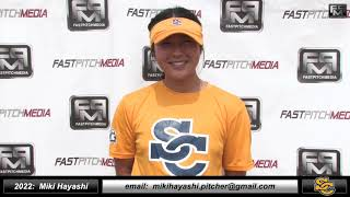 2022 Miki Hayashi - 4.1 GPA - Athletic Pitcher Softball Skills Video - Ca Suncats