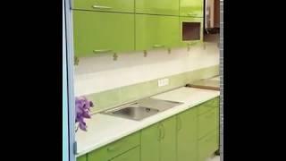Кухня  фото № 37 фасад постформинг цвет Салатовый. от компании Фаберме - видео 2