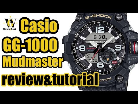 Casio G Shock GG 1000 MUDMASTER - module 5476 review & tutorial how to set up ALL the functions