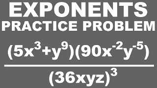 Simplifying Exponents: Practice Problem 02