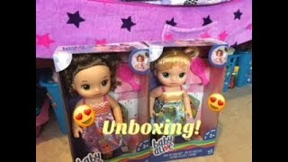 BABY ALIVE: Baby Alive Ready For School Unboxing Blonde &  Brunette