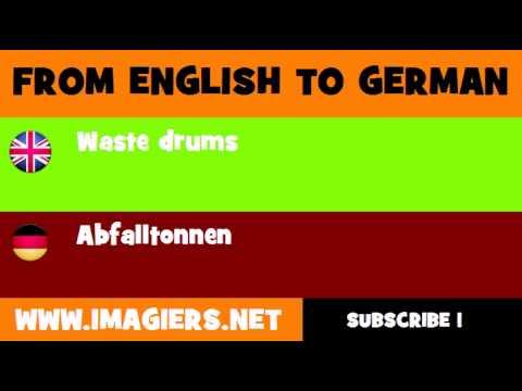 DEUTSCH   ENGLISCH  = Abfalltonnen