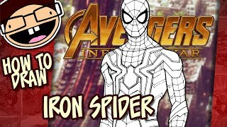 How To Draw Iron Spider From Avengers Infinity War