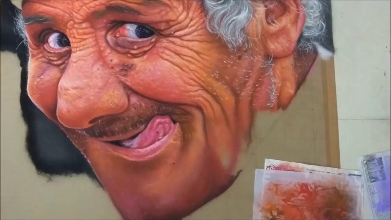 portrait rangoli design child in you by ganesh khare