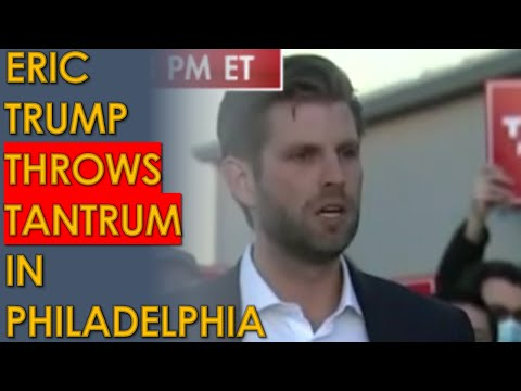 Eric Trump and Rudy Giuliani throw MELTDOWN TANTRUM Press Conference in Philadelphia