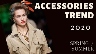 TOP ACCESSORY TRENDS Spring Summer 2020   Fashion Trends 2020 Lookbook   Red Fashion Chic
