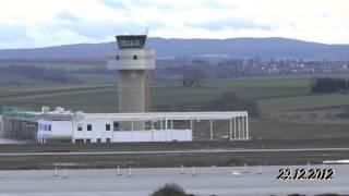 preview picture of video 'Flughafen Kassel Calden am 29.12.2012'