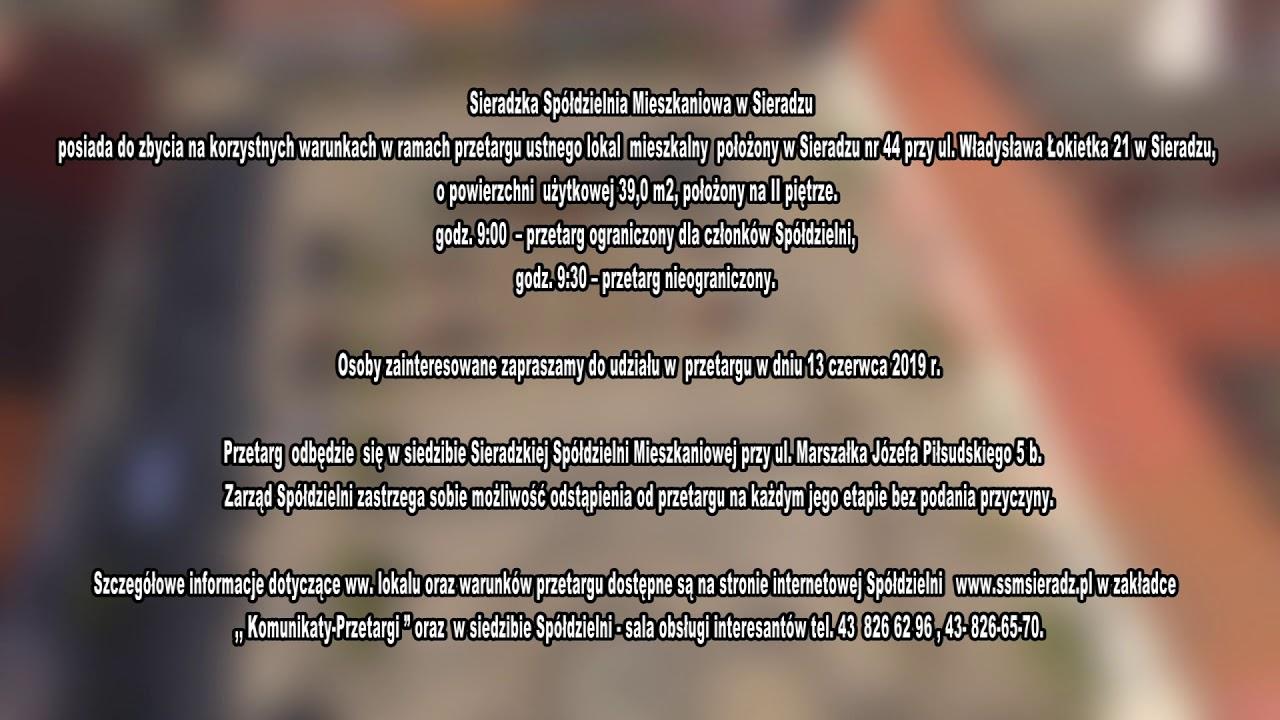 Sieradzka Spółdzielnia Mieszkaniowa – ogłoszenie 27.05
