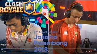 Lciop (China) vs BenZerRidel (Indonesia) Clash Royale Finals - 2018 Asian Games