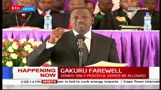 DP William Ruto promises to fulfill the promises made by the late Governor Wahome Gakuru