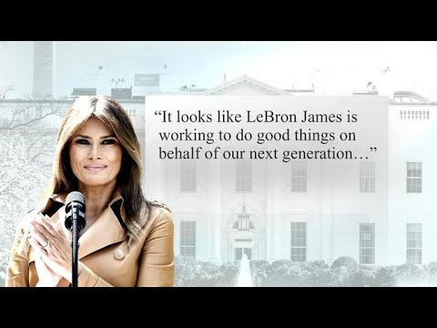 """First lady Melania Trump """"willing to visit"""" LeBron James' school"""