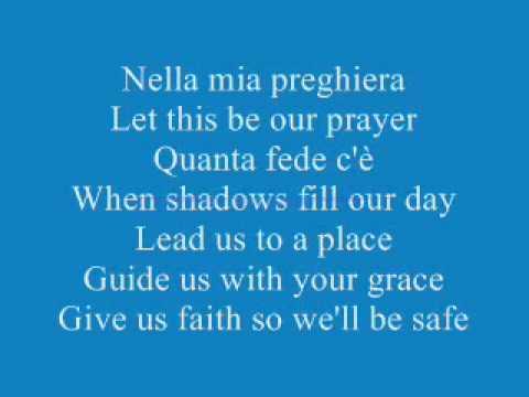 Celine Dion ft Andrea Bocelli The Prayer Lyrics