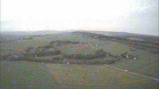 FPV - virtual dub test flight maiden with my brushless easystar and 2.4Ghz Video TX