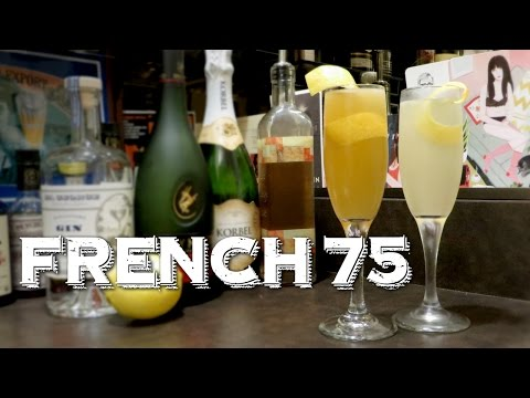 Video French 75 - A Classic Cocktail Made Two Ways: Gin vs. Brandy (aka French 125)