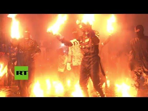 Bolas de Fuego, the Annual Fireball Street Fight in El Salvador