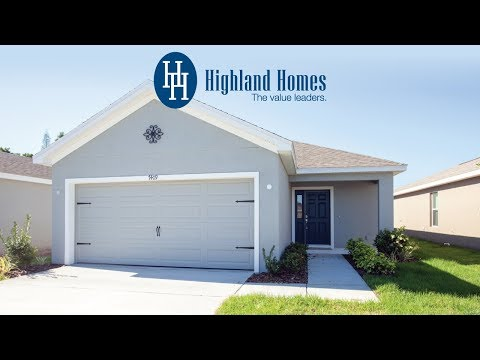 Amaryllis home plan by Highland Homes - Florida New Homes for Sale
