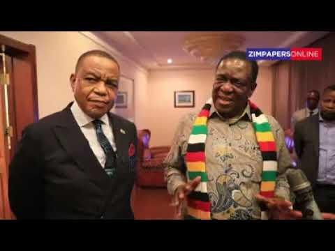 Mnangagwa visits general Chiwenga at home
