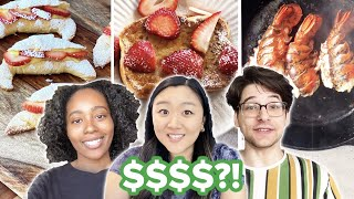 $2 vs. $10 vs. $100 Breakfast Budget Challenge • Tasty