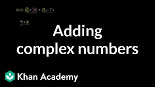 Adding Complex Numbers