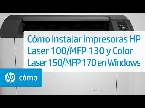 Cómo instalar las impresoras HP de las series Laser 100, MFP 130 y Color Laser 150, MFP 170 en Windows