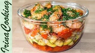 Салат ФИЛИППИНЫ с красной рыбой | Salad with Red Fish and Vegetables