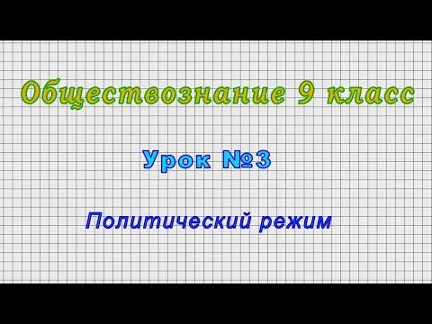 Обществознание 9 класс (Урок№3 - Политический режим.)