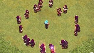 ICE WIZARD Vs. FIRE WIZARD! Clash of clans troll Raid| Will the Ice wizard win?